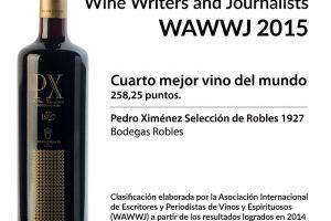 Pedro Ximénez Selección de Robles 1927, cuarto mejor vino del mundo.