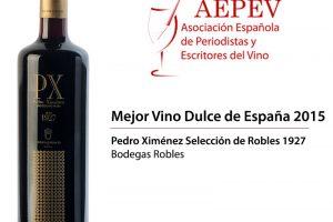 Pedro Ximénez Selección de Robles 1927, mejor vino dulce de España 2015.