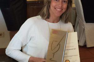 Entrega del premio a mejor vino dulce de España por la AEPEV.