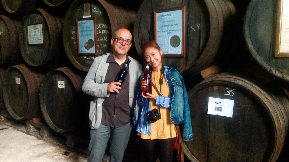 Visita de Isabel Calvache y Sayuri Ishii.