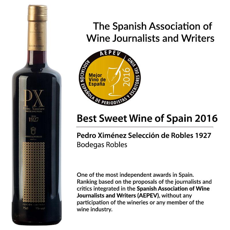 Best Sweet Wine of Spain 2016: Pedro Ximénez Seleccion de Robles 1927.