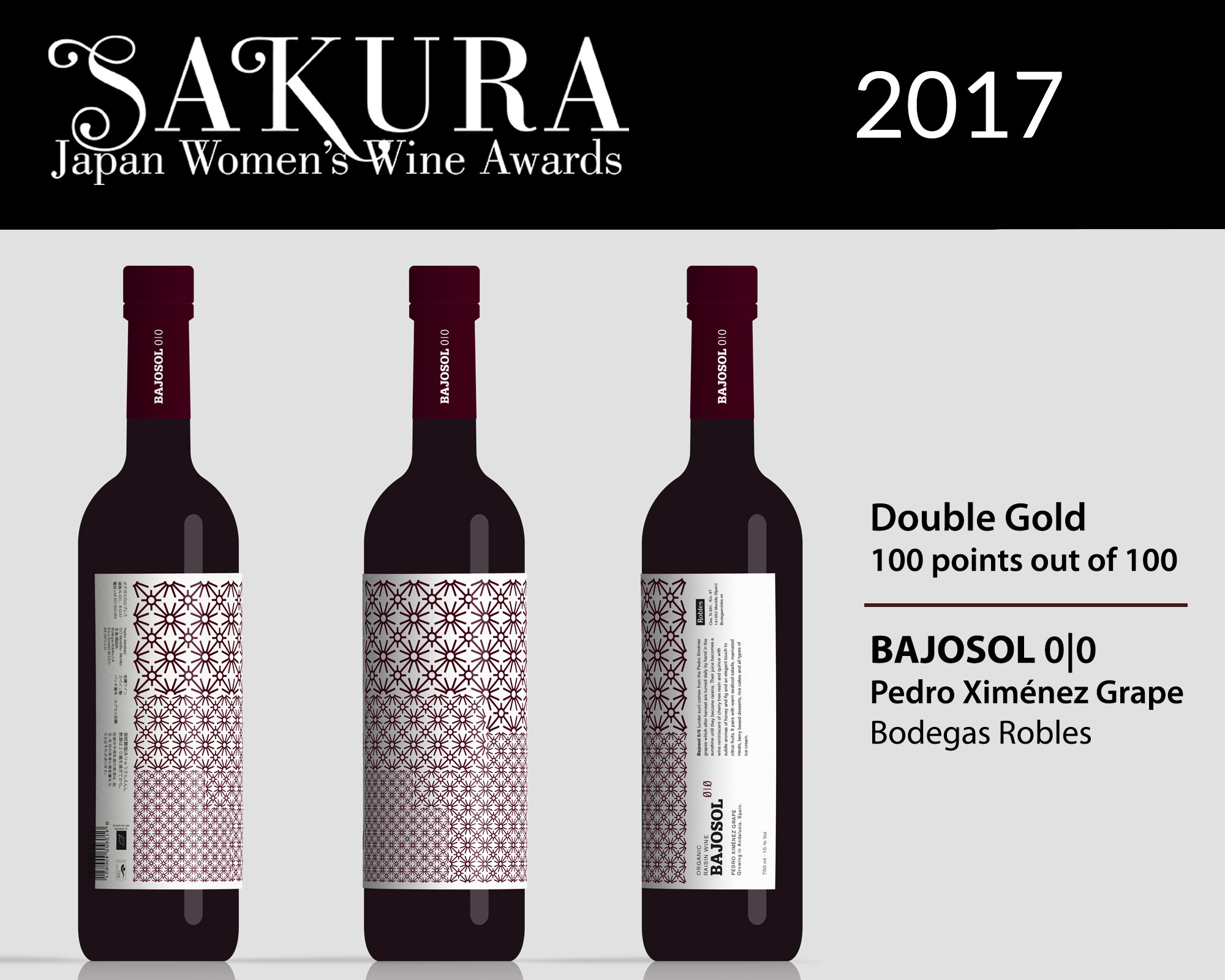 Bodegas Robles gets 100 points out of 100 in Japan.