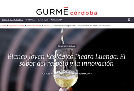 José Ignacio Santiago habla de nuestro Verdejo Ecológico en Gurmé Córdoba.