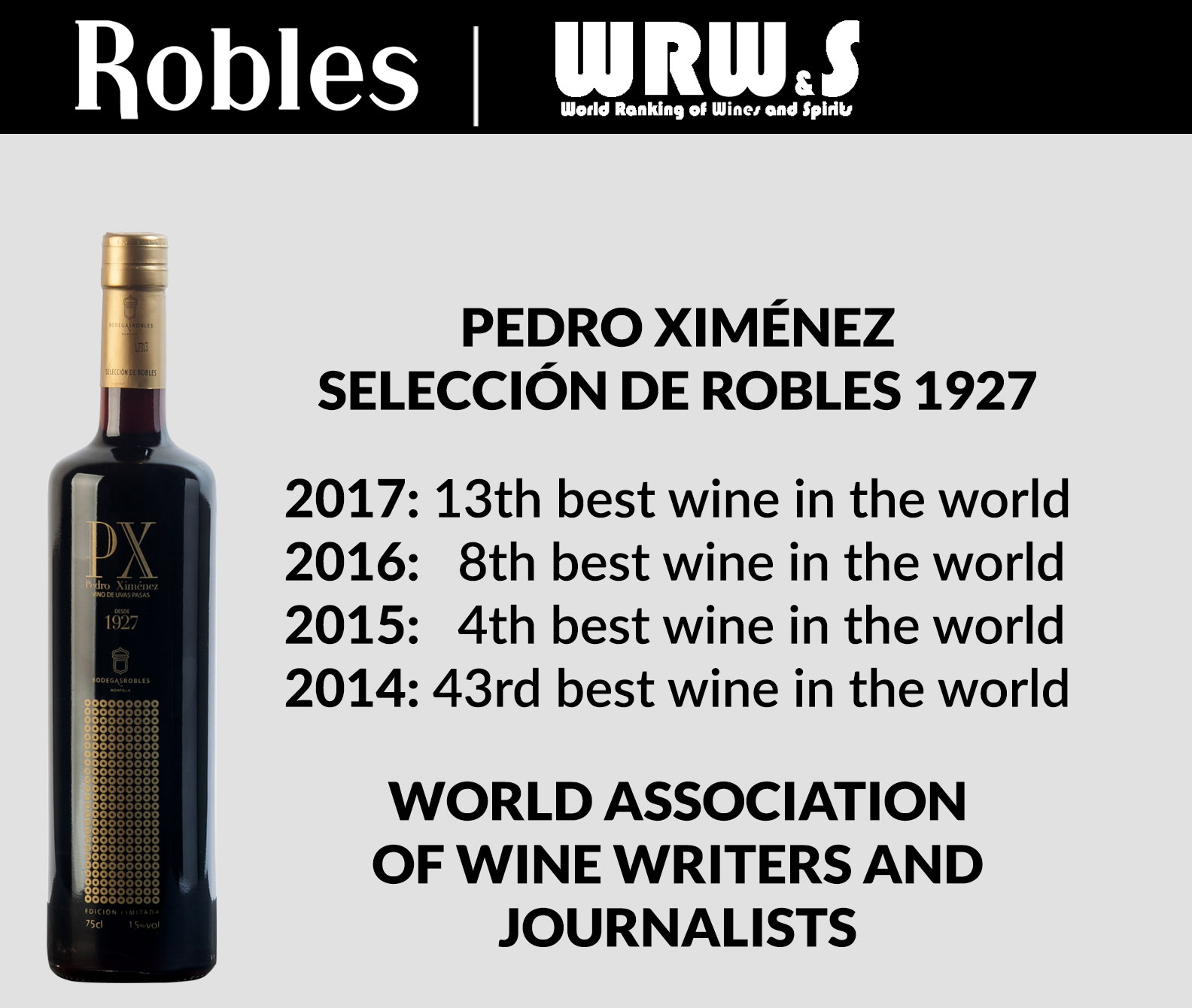 Four years among the 50 best wines in the world