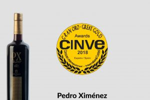 Grand Gold at CINVE 2018 for Pedro Ximénez Selección de Robles 1927.