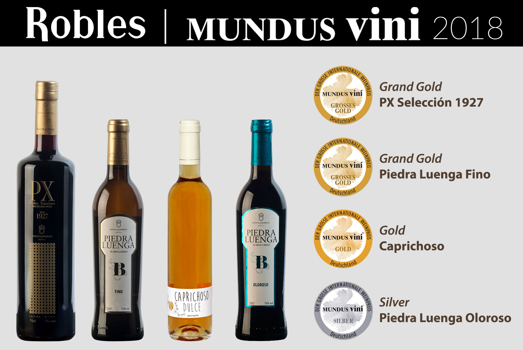 Bodegas Robles awarded in Mundus Vini, Germany