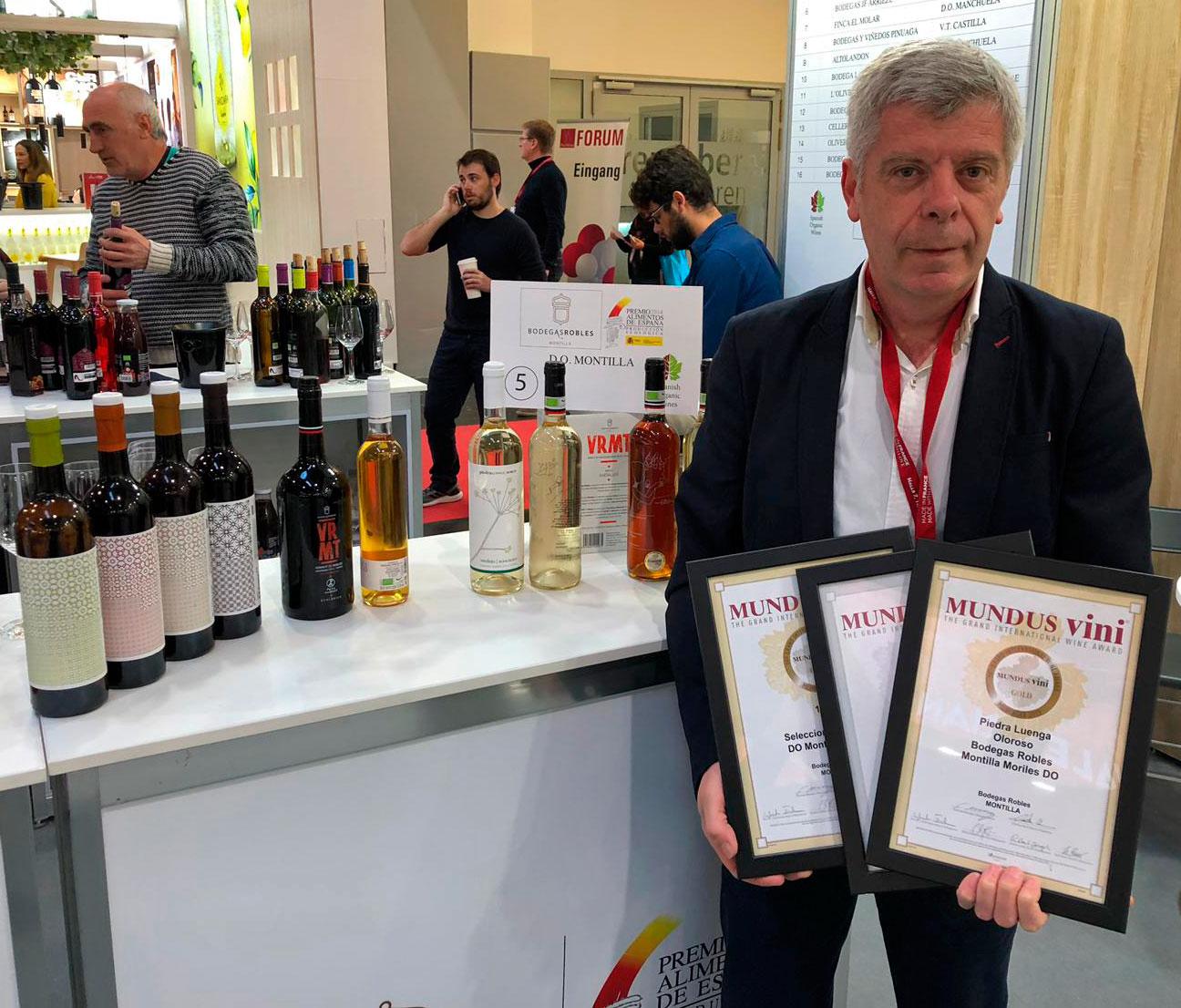 Bodegas Robles logra tres medallas en Mundus Vini, en Alemania