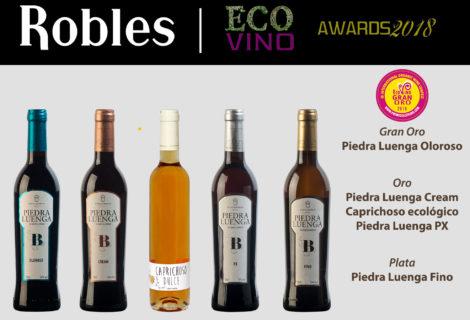 Bodegas Robles, mejor puntuación Ecovino 2018 (Rioja) con vino Oloroso ecológico