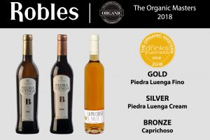 Masters of Wines recognizes the wines of Bodegas Robles: The Global Organic Masters.