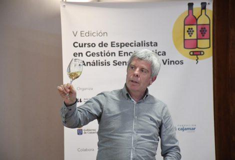 Franciso Robles presenta Montilla Moriles y su propuesta de valor en la Universidad de La Laguna