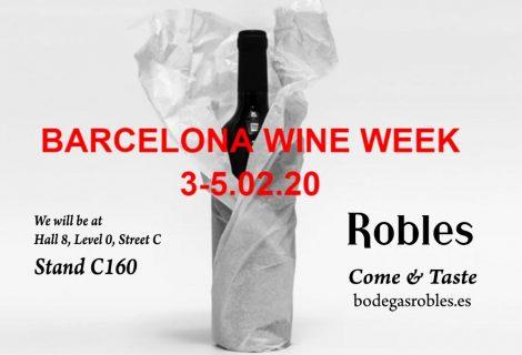 Bodegas Robles confirma su asistencia a la primera edición de la Barcelona Wine Week