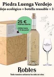 Selección: Piedra Luenga Verdejo 5l + botella reusable + 2 catavinos