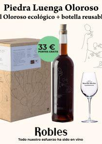 Selección: Piedra Luenga Oloroso 5l + botella reusable + 2 catavinos