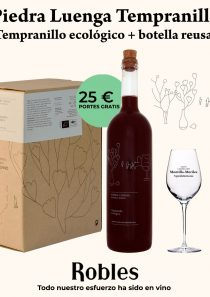 Selección: Piedra Luenga Tempranillo 5l + botella reusable + 2 catavinos