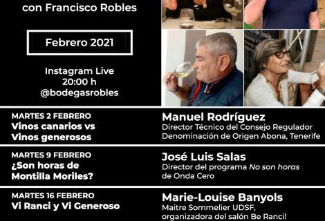 Programa de febrero: Catas Instagram Live #Roblesendirecto