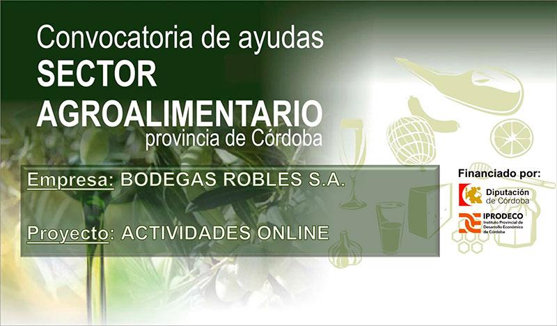 Bodegas Robles apuesta por el canal online