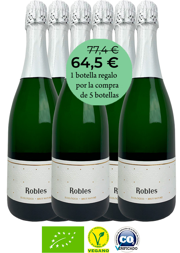 Robles Brut Nature 18 meses / 6 botellas