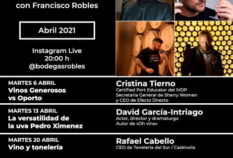 Programa de abril: Catas Instagram Live #Roblesendirecto