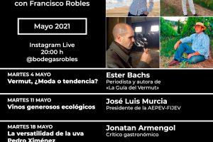 Programa de mayo: Catas Instagram Live #Roblesendirecto