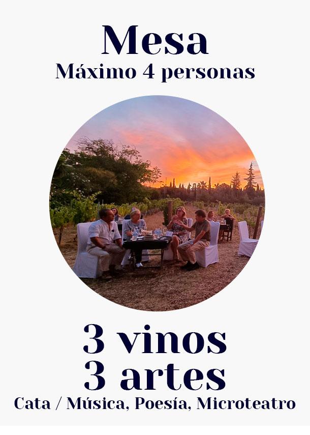 Mesa. / 3 vinos, 3 artes