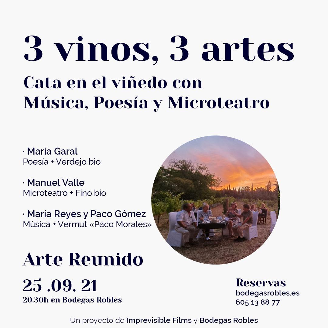 3 vinos, 3 artes
